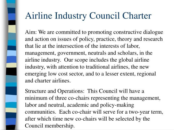 Airline Industry Council Charter