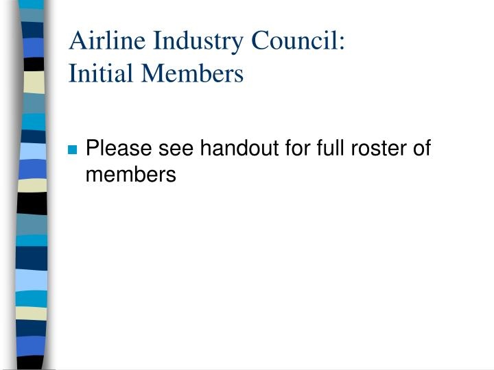 Airline Industry Council: