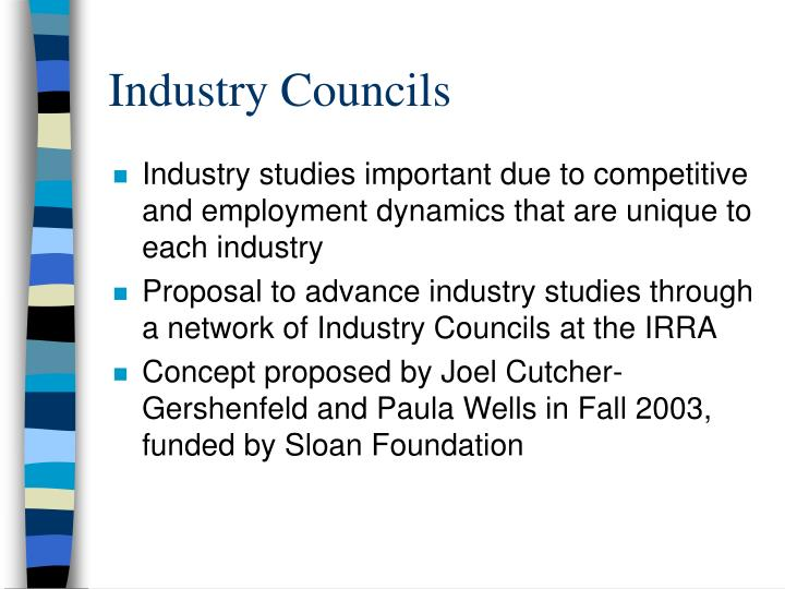 Industry councils