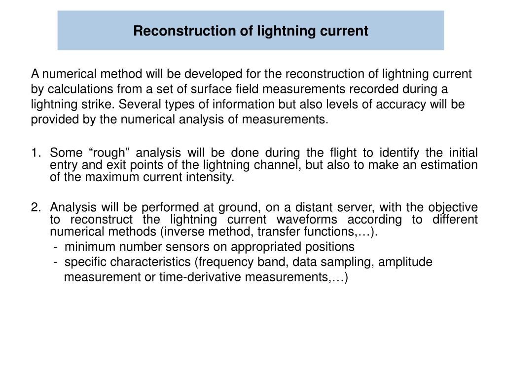 Reconstruction of lightning current