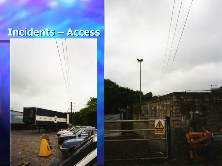 Incidents – Access