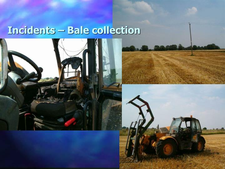 Incidents – Bale collection