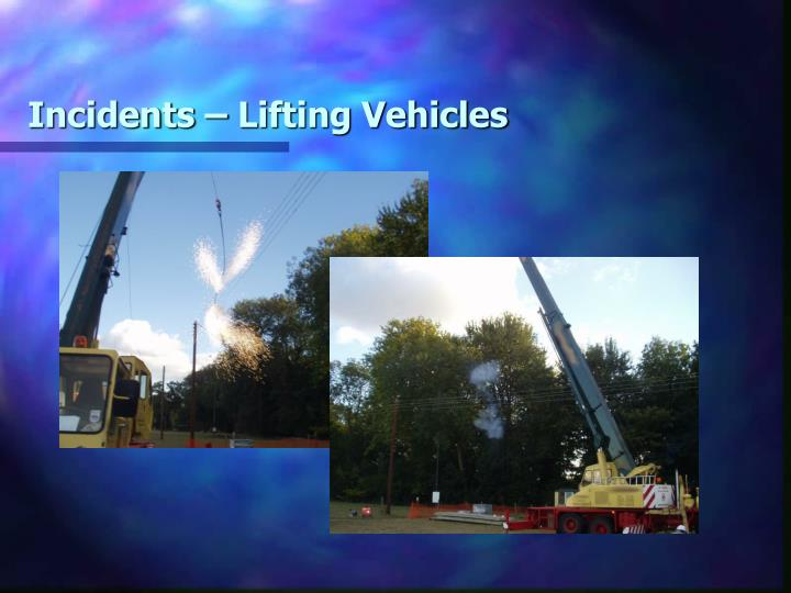 Incidents – Lifting Vehicles