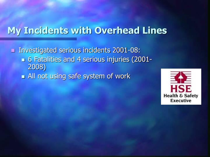 My Incidents with Overhead Lines