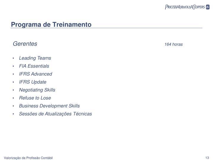 Programa de Treinamento