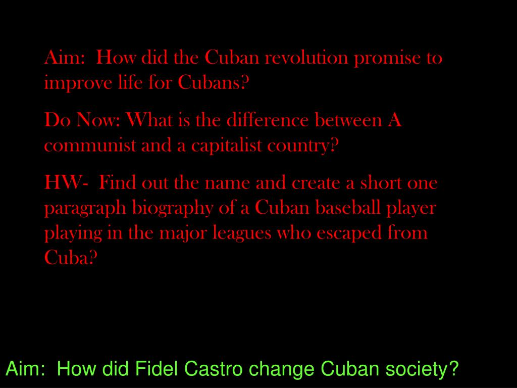 the difference between the cuban and american revolution Us officials announced that cuba has released american aid cuban president ra l castro affirmed his government's willingness for dialogue on profound differences between the first such exchange between leaders of the two countries since the 1959 cuban revolution.