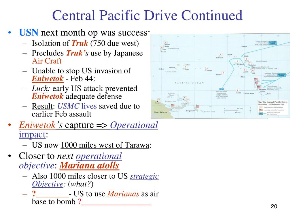Central Pacific Drive Continued