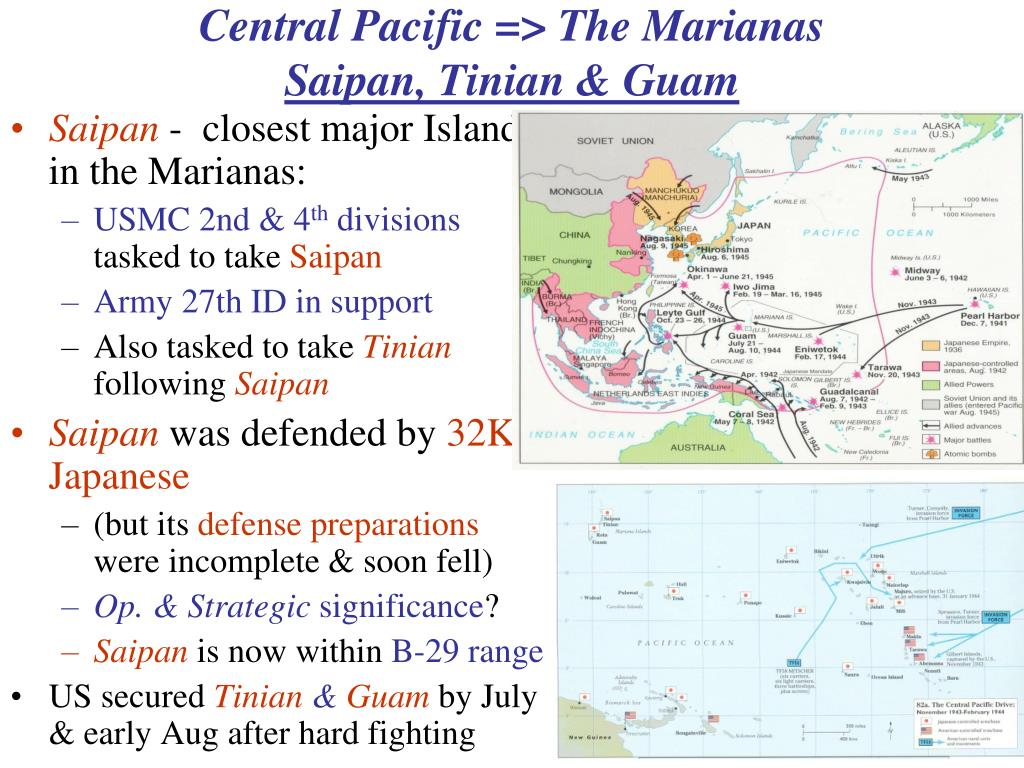 Central Pacific => The Marianas