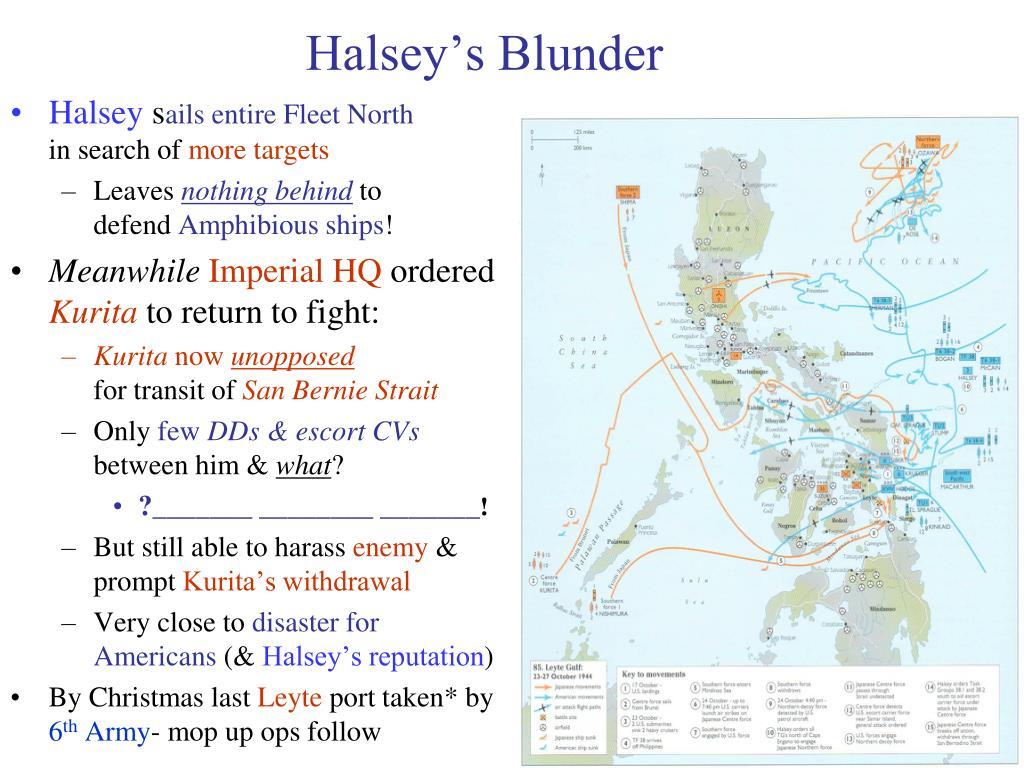Halsey's Blunder