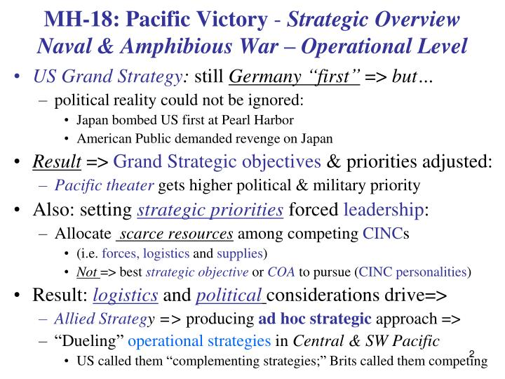 Mh 18 pacific victory strategic overview naval amphibious war operational level