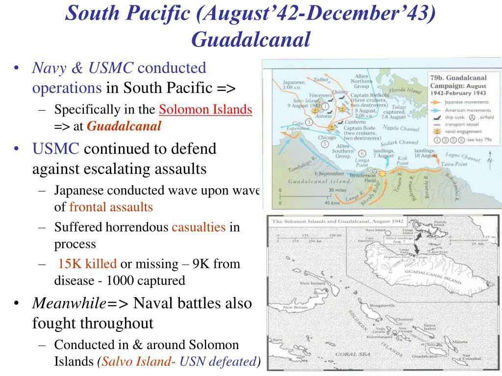 South Pacific (August'42-December'43)