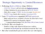 strategic opportunity vs limited resources