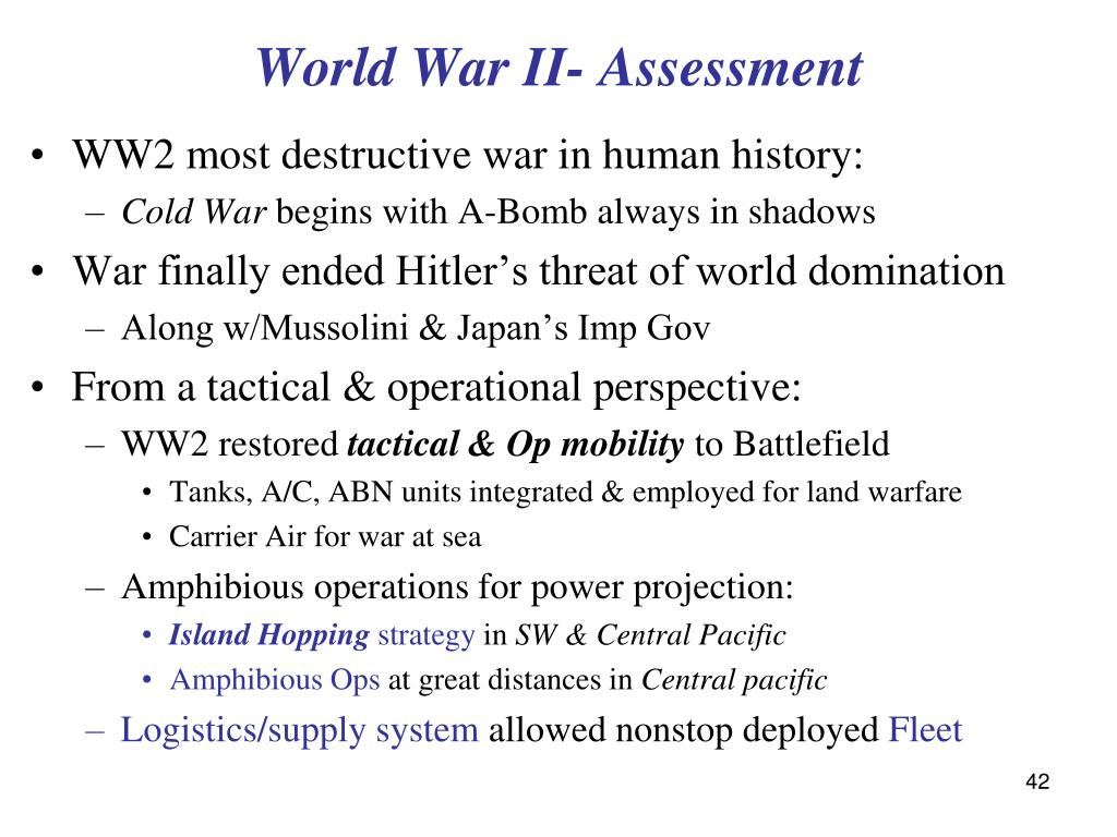 World War II- Assessment