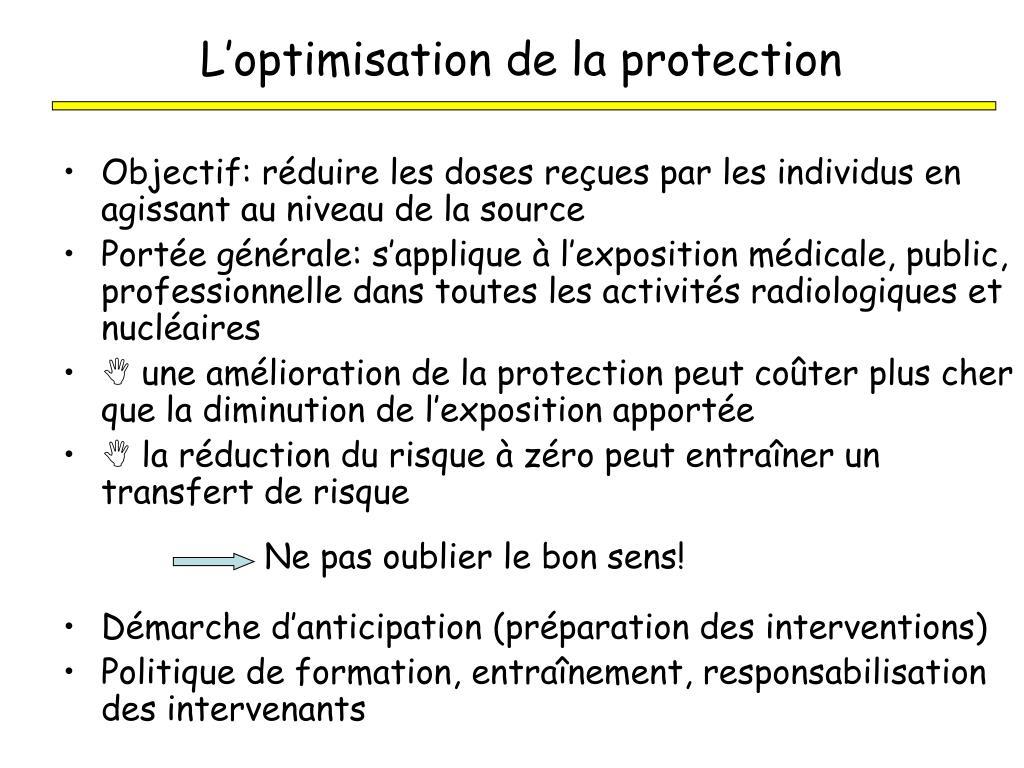 L'optimisation de la protection