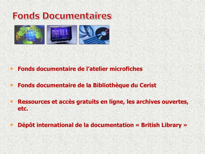 Fonds Documentaires