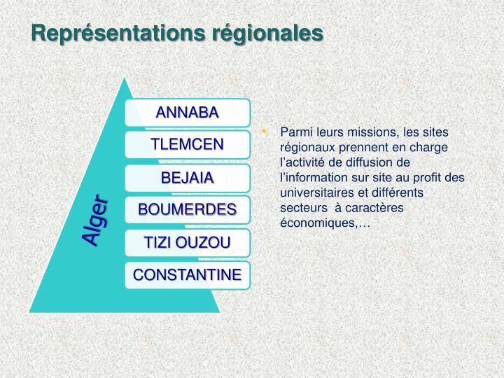 Représentations régionales
