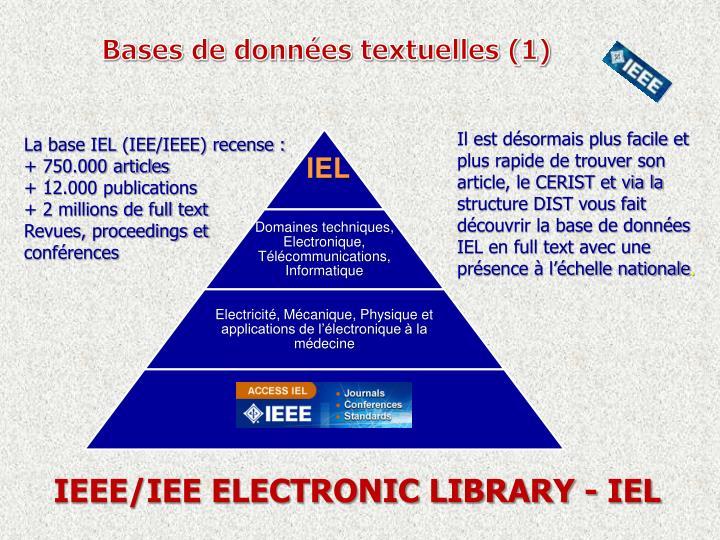 Bases de données textuelles (1)