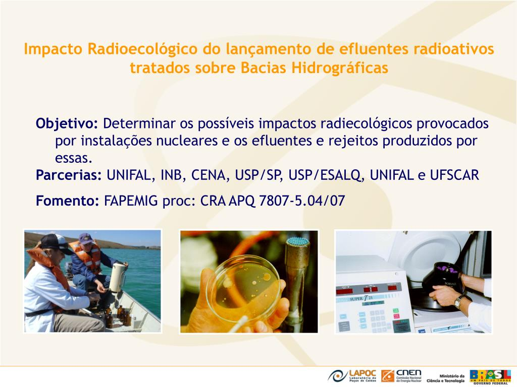 Impacto Radioecológico do lançamento de efluentes radioativos tratados sobre Bacias Hidrográficas