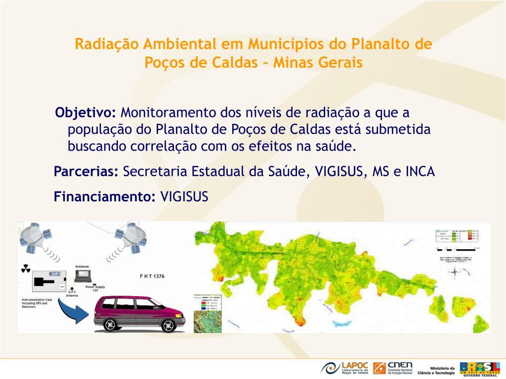 Radiação Ambiental em Municípios do Planalto de