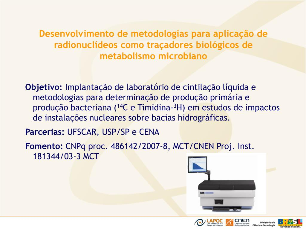 Desenvolvimento de metodologias para aplicação de radionuclídeos como traçadores biológicos de