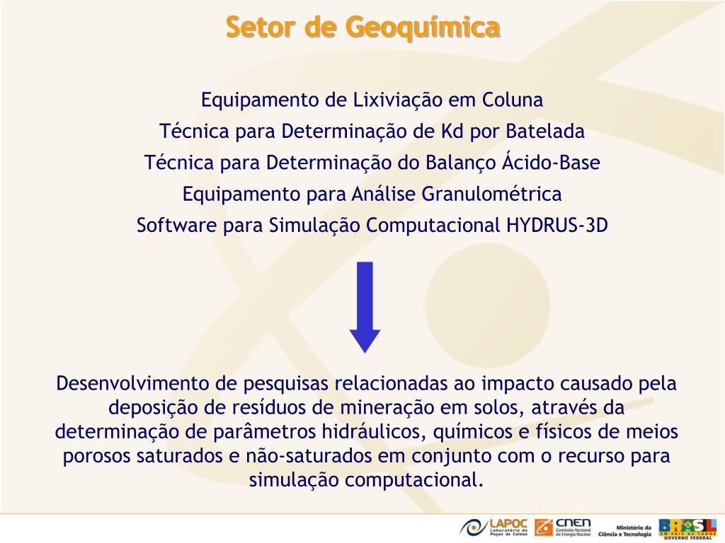 Setor de Geoquímica