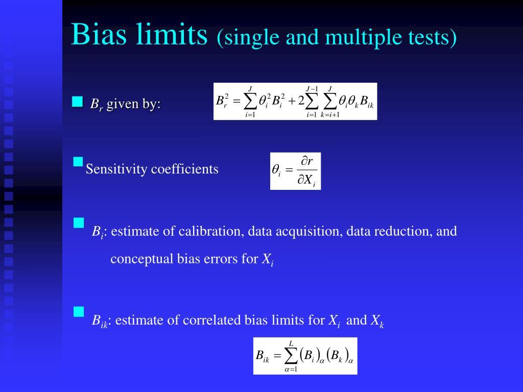 Bias limits
