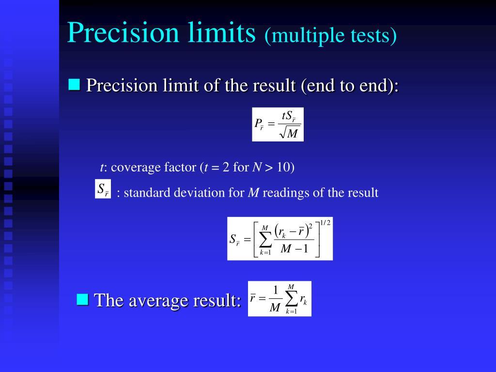Precision limits