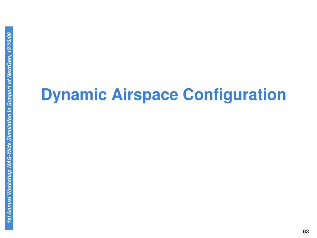 Dynamic Airspace Configuration