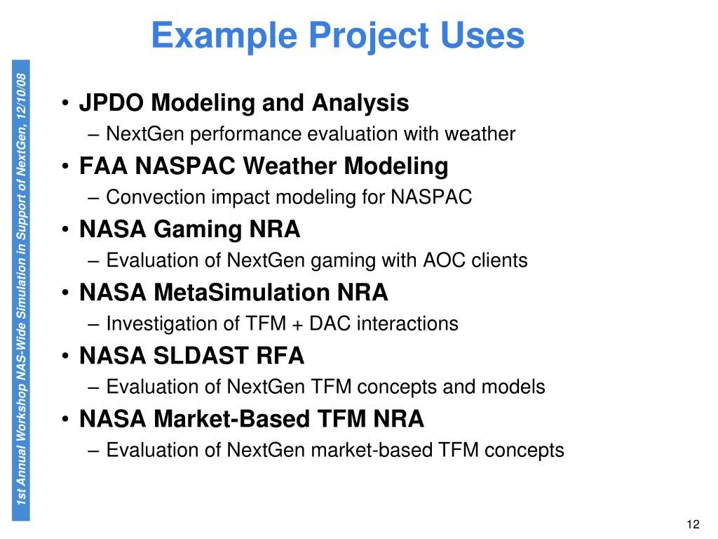 Example Project Uses
