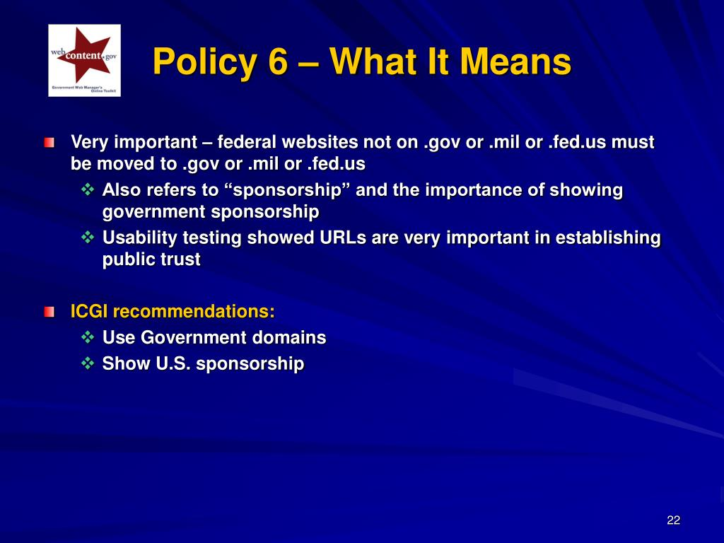 Policy 6 – What It Means
