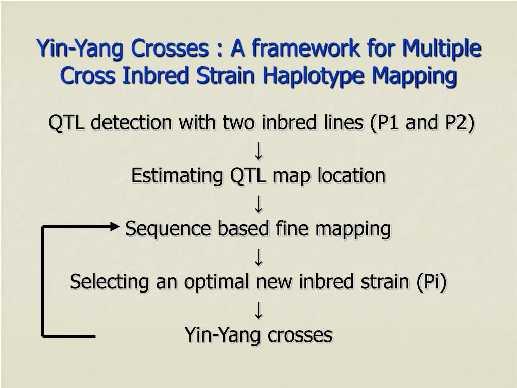 Yin-Yang Crosses : A framework for Multiple Cross Inbred Strain Haplotype Mapping