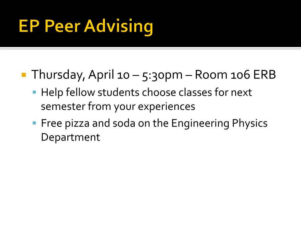 EP Peer Advising