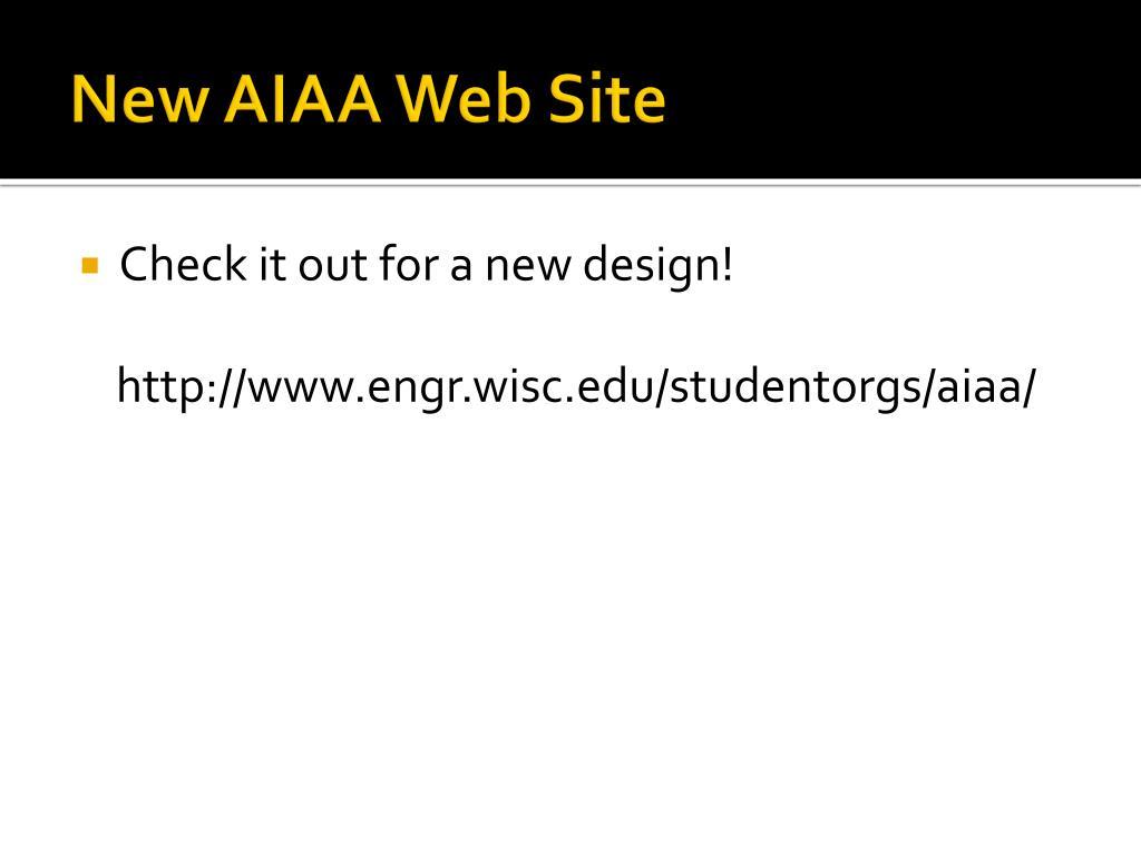 New AIAA Web Site