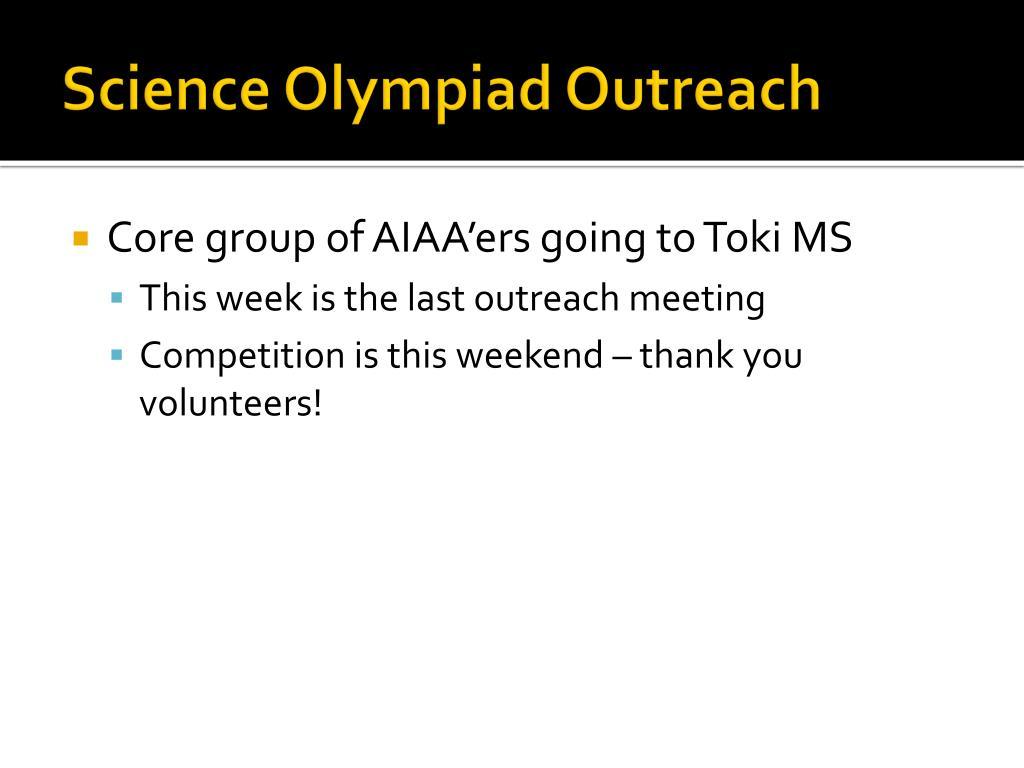 Science Olympiad Outreach