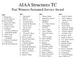 aiaa structures tc past winners sustained service award