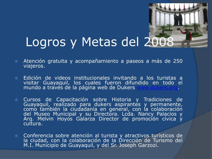 Logros y Metas del 2008