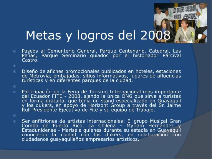 Metas y logros del 2008