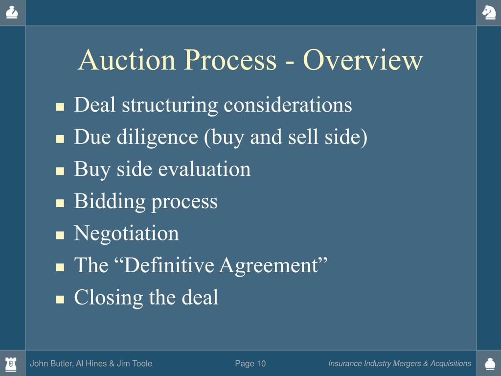 Auction Process - Overview