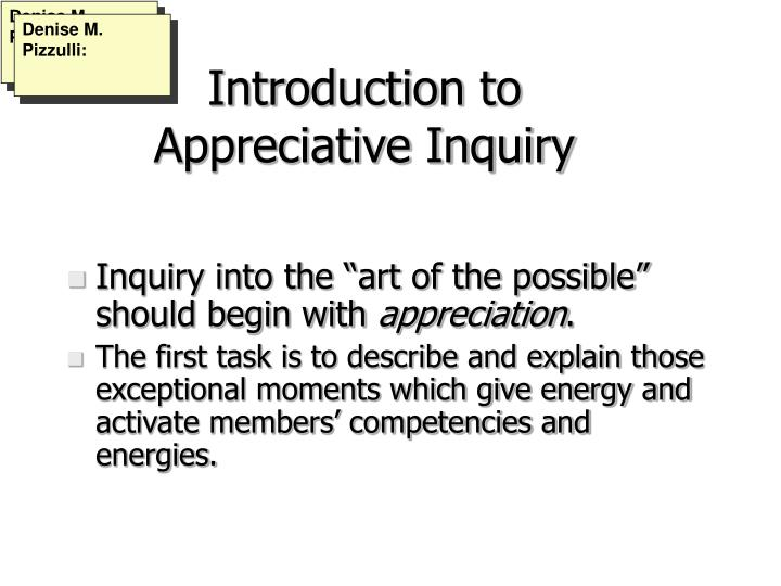 Introduction to appreciative inquiry