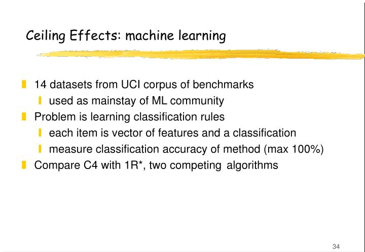 Ceiling Effects: machine learning