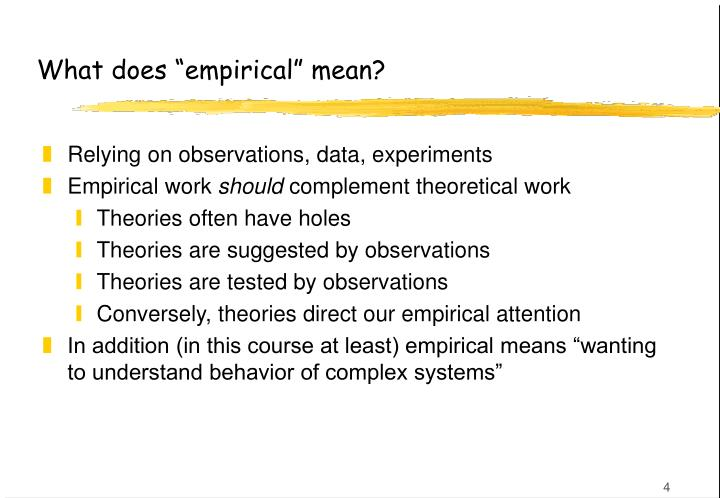 "What does ""empirical"" mean?"