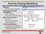 activity dialog modeling