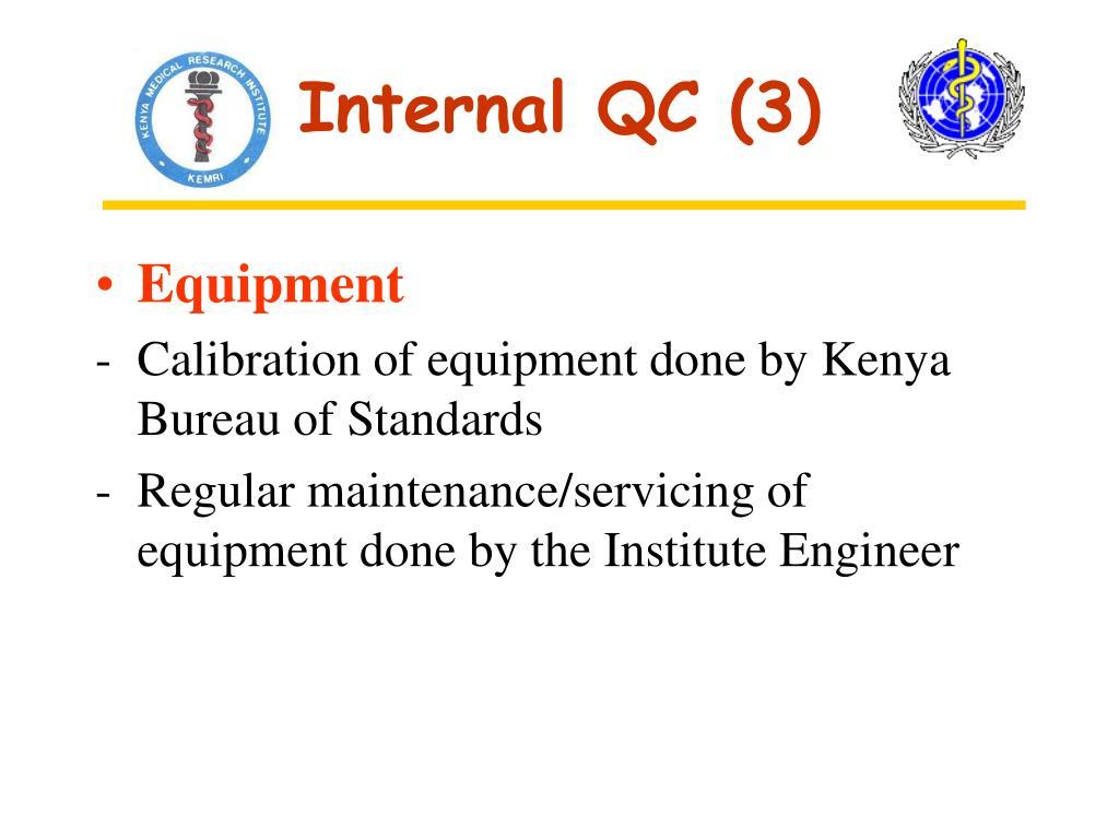 Internal QC (3)