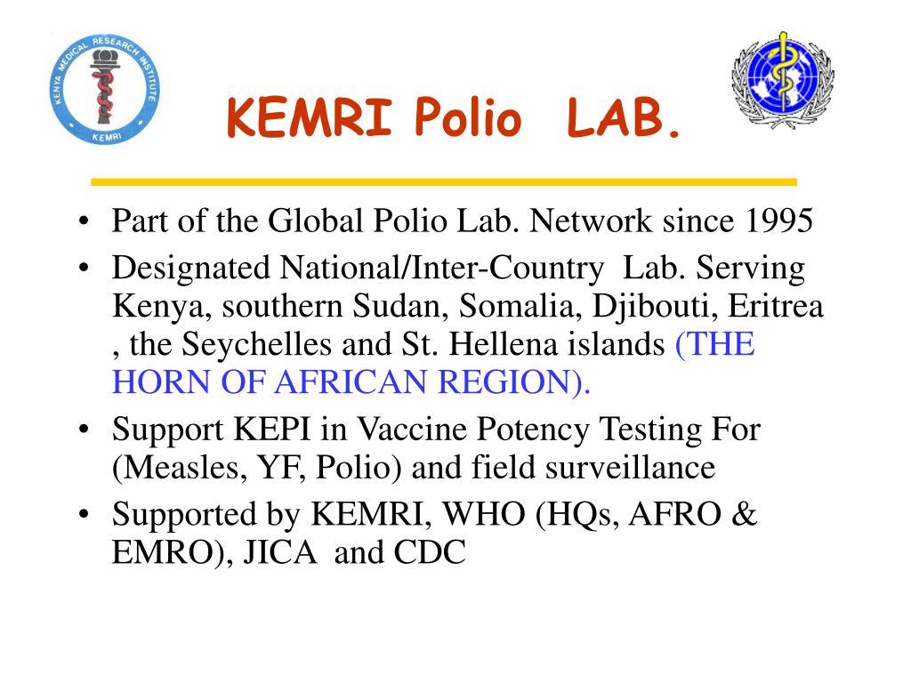 KEMRI Polio  LAB.