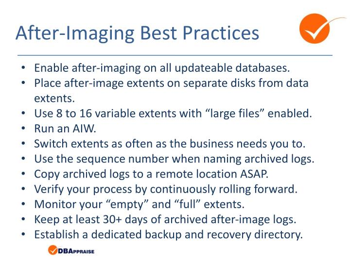 After-Imaging Best Practices