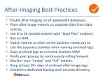 after imaging best practices