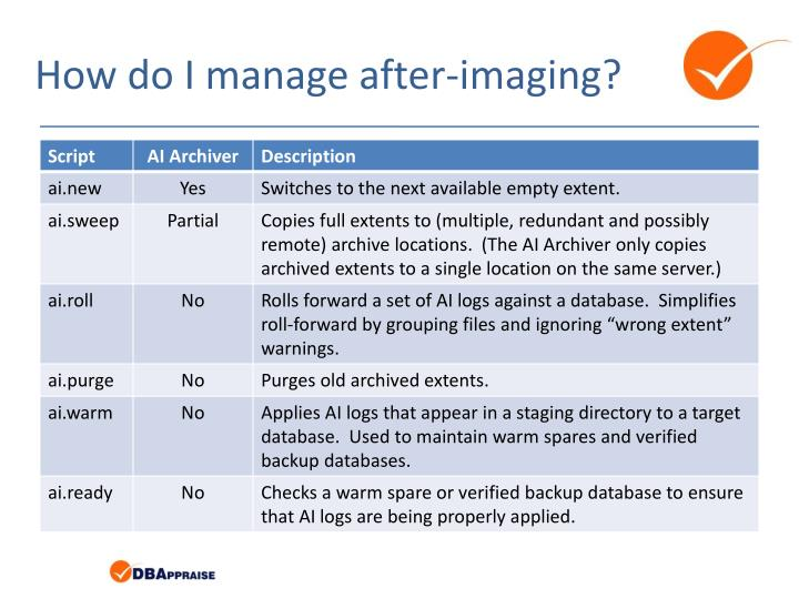 How do I manage after-imaging?