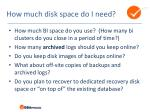 how much disk space do i need