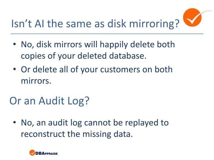 Or an Audit Log?