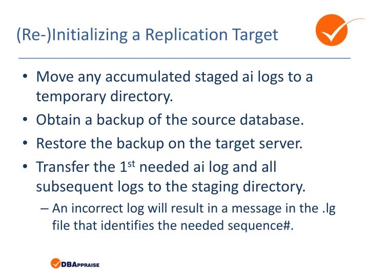 (Re-)Initializing a Replication Target